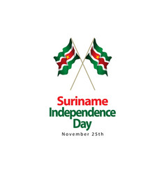 Suriname independence day template design vector