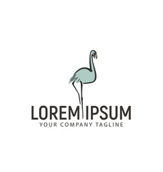 swan hand drawn logo design concept template vector image