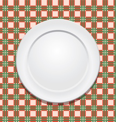 tablecloth and plate vector image