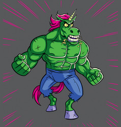 unicorn rage vector image