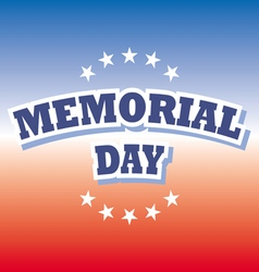 us memorial day banner on red and blue background vector image