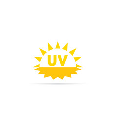 uv radiation icon ultraviolet with sun logo vector image