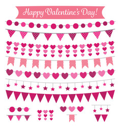 valentines day decoration and design elements set vector image