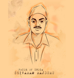 vintage indian background with nation hero and vector image