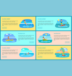water sport and fun collection vector image