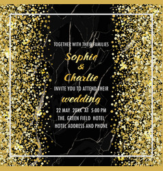 Wedding luxury invitation card vector