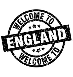 welcome to england black stamp vector image