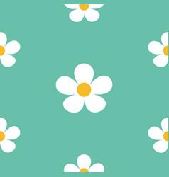 White daisy chamomile icon cute flower plant vector