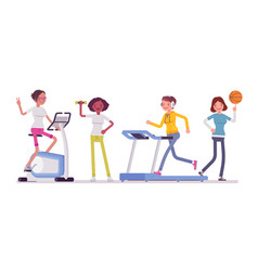 women fitness club vector image