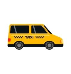 Yellow taxi bus vector image