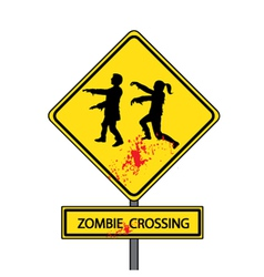 Zombie crossing vector