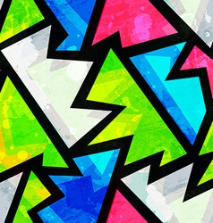 bright grunge geometric seamless pattern vector image vector image