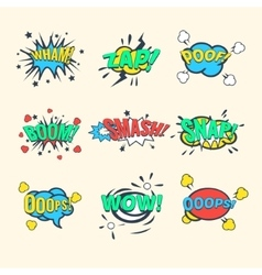 Comics Exclamations speech bubble vector image