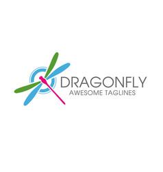 dragonfly logo vector image vector image