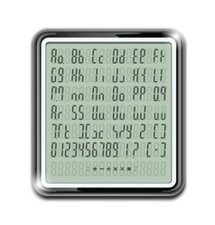 electronic calculator font vector image vector image