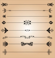 elements of decoration design vector image vector image