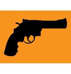 Gun silhouettes vector image vector image