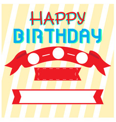 happy birthday invitational card vector image