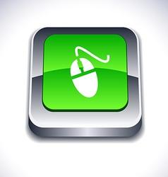 Mouse 3d button vector image