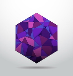 Purple polygon material design background vector image