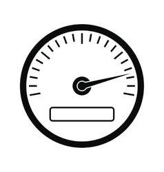 Speedometer black simple icon vector image