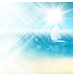 Summer sun light burst EPS 10 vector image vector image
