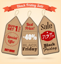 black friday sale design concept vector image vector image