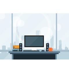 modern workspace vector image