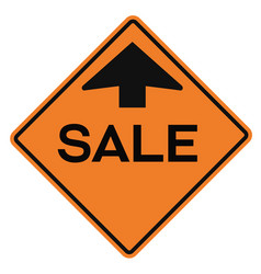 sale attention plate vector image