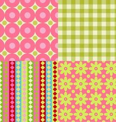 Set of Scrapbook Backgrounds vector image vector image