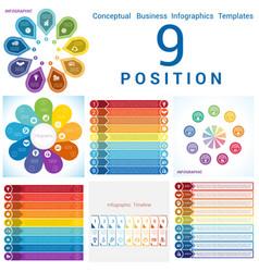 set templates infographics business conceptual vector image