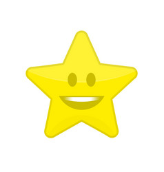 star icon with smile vector image