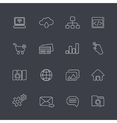 thin outline icons vector image vector image