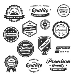 vintage quality labels vector image