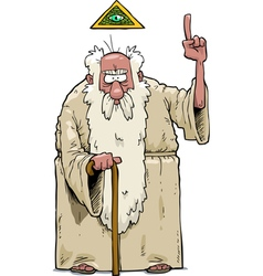 bearded god vector image