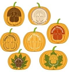 Color celebratory logo turkey bird vector image