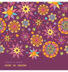 Colorful stars horizontal border seamless pattern vector image vector image