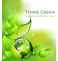 Environment and nature abstract composition vector image