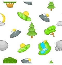 Nature pattern cartoon style vector