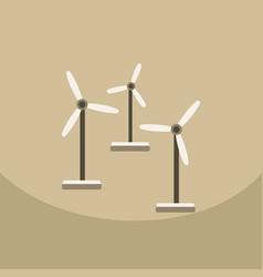 wind turbine alternative energy resource nature vector image