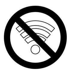 ban wi fi symbol vector image