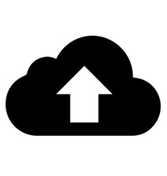 black cloud with arrow icon on white vector image