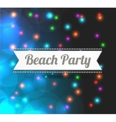 invitation to Beach party vector image vector image