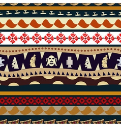 Seamless pattern with elements of embroidery vector image