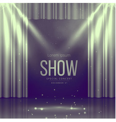 stage with curtains in vintage colors vector image vector image