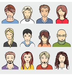 unrecognizable people faces vector image
