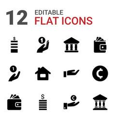 12 loan icons vector