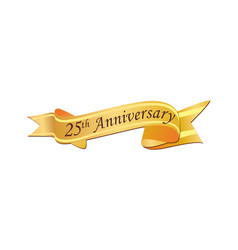 25th anniversary logo vector image
