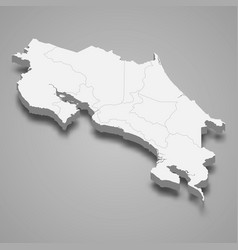 3d map with borders template for your design vector