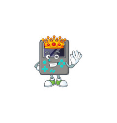 A dazzling game console stylized king on cartoon vector